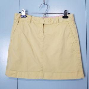 Vineyard Vines yellow mini skirt size 4  -P1